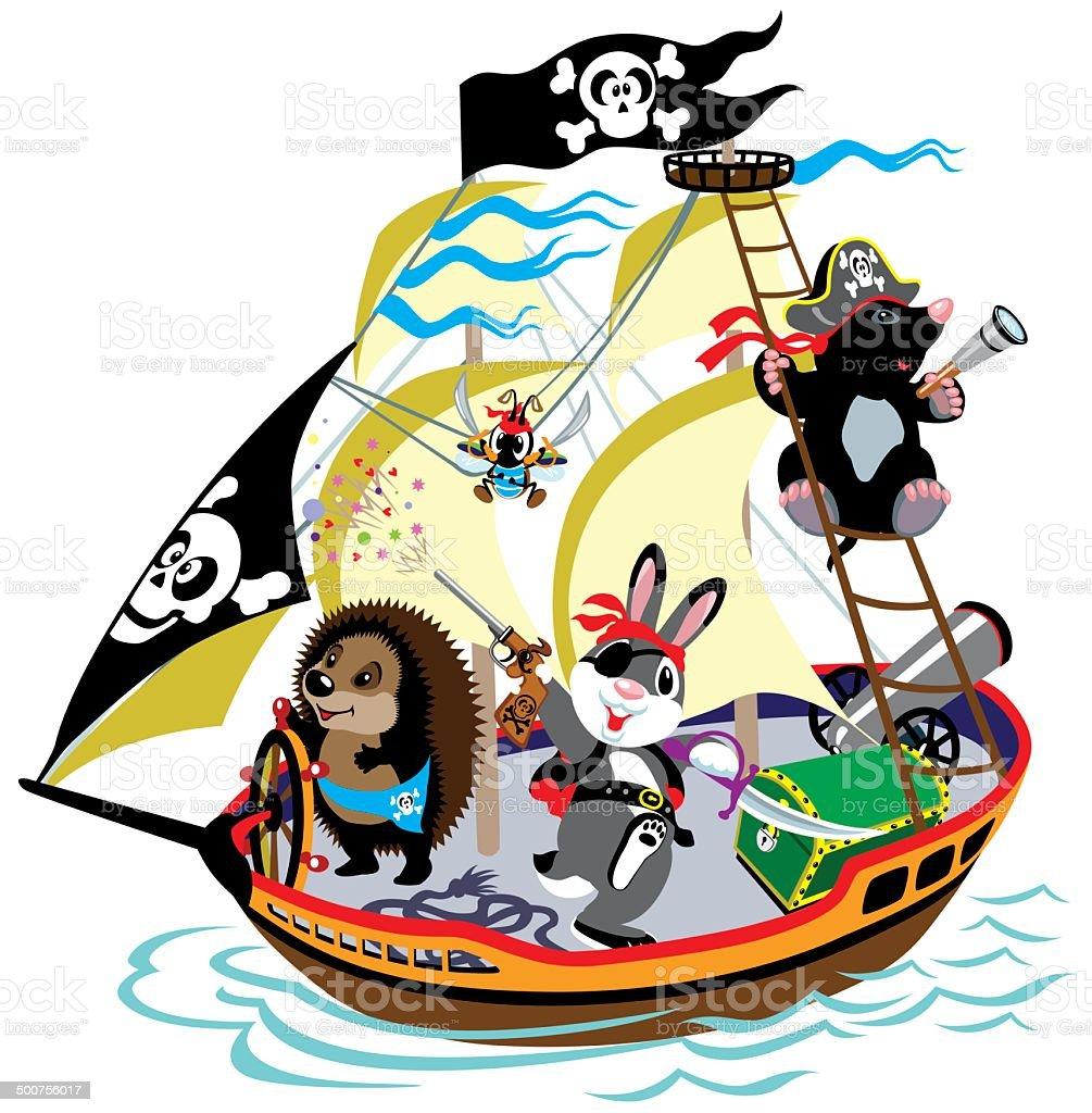 Bateau pirate dessin anim vecteurs libres de droits et plus d 39 images de amiti 500756017 istock - Bateau de pirate dessin ...