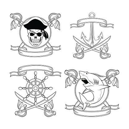 cartoon pirate tattoo design