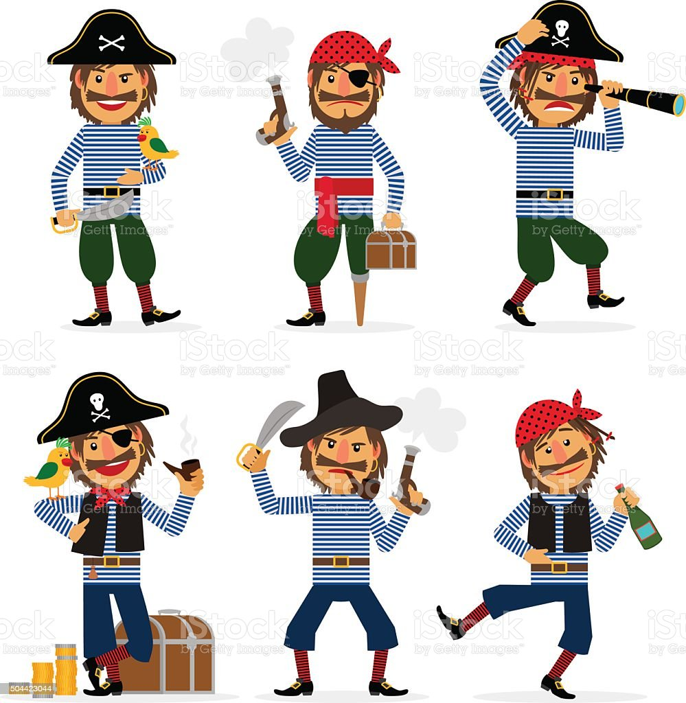 カットイラスト海賊ベクトル文字 あごヒゲのベクターアート素材や画像