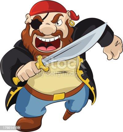 istock Cartoon Pirate 179514159