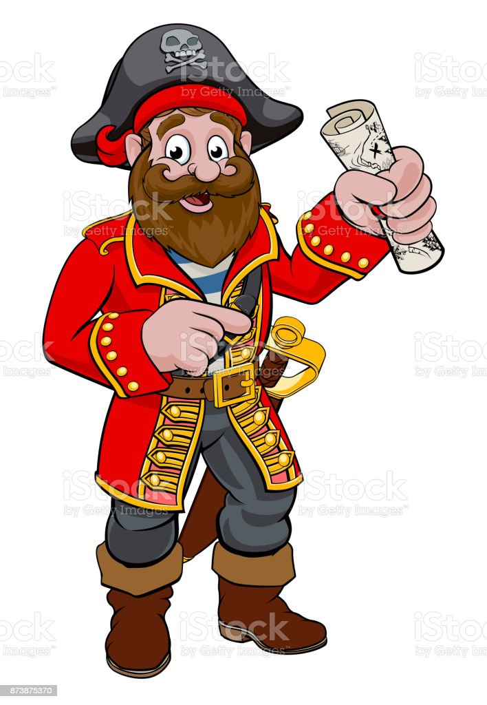 Pirate Dessin animé - Illustration vectorielle