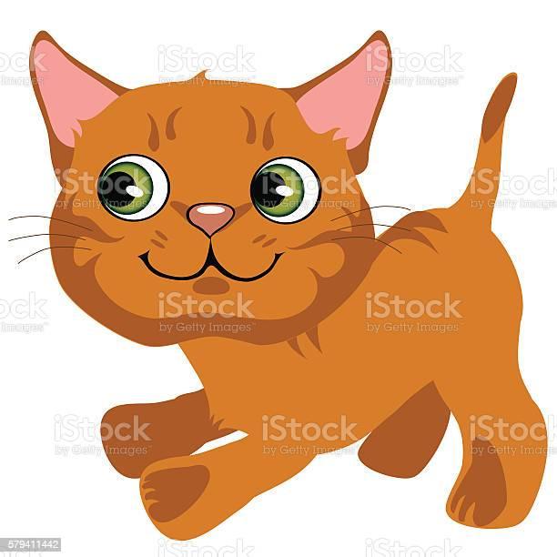 Cartoon playful ginger kitten with green eyes vector id579411442?b=1&k=6&m=579411442&s=612x612&h=vwutid4bgicjcyum9iwxrs06sowxhdsnmfnppgty mg=