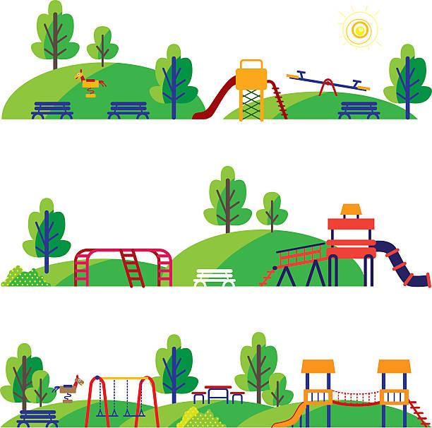 cartoon playground - recess stock illustrations, clip art, cartoons, & icons