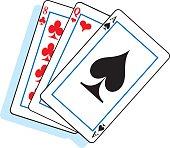 Cartoon playing cards.