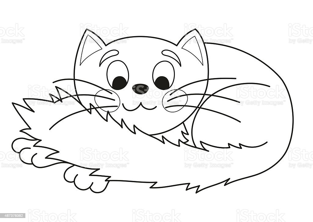 Ilustración de Grande Gato De Historieta Vector Illustration Of ...