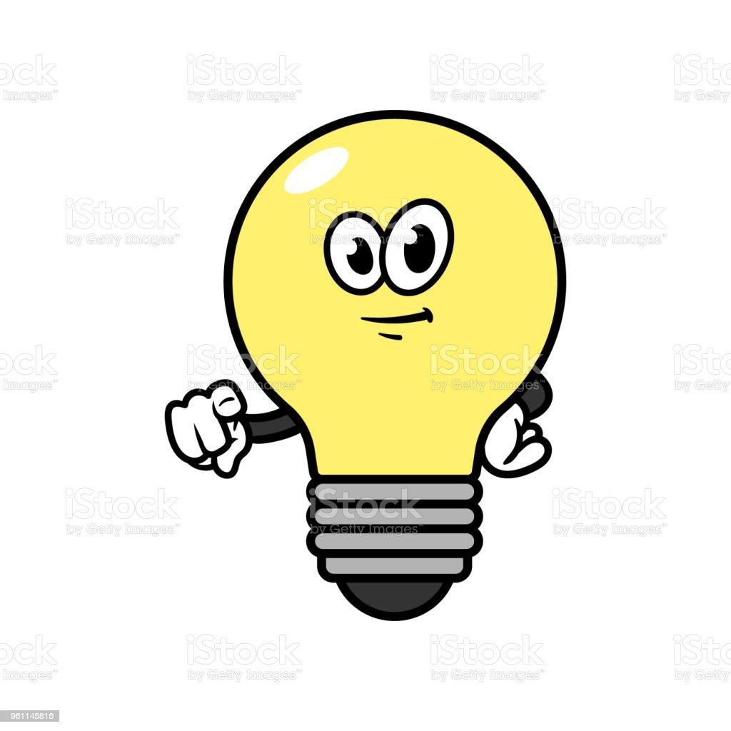 Ampoule Dessin pointage ampoule personnage de dessin animé – cliparts vectoriels et