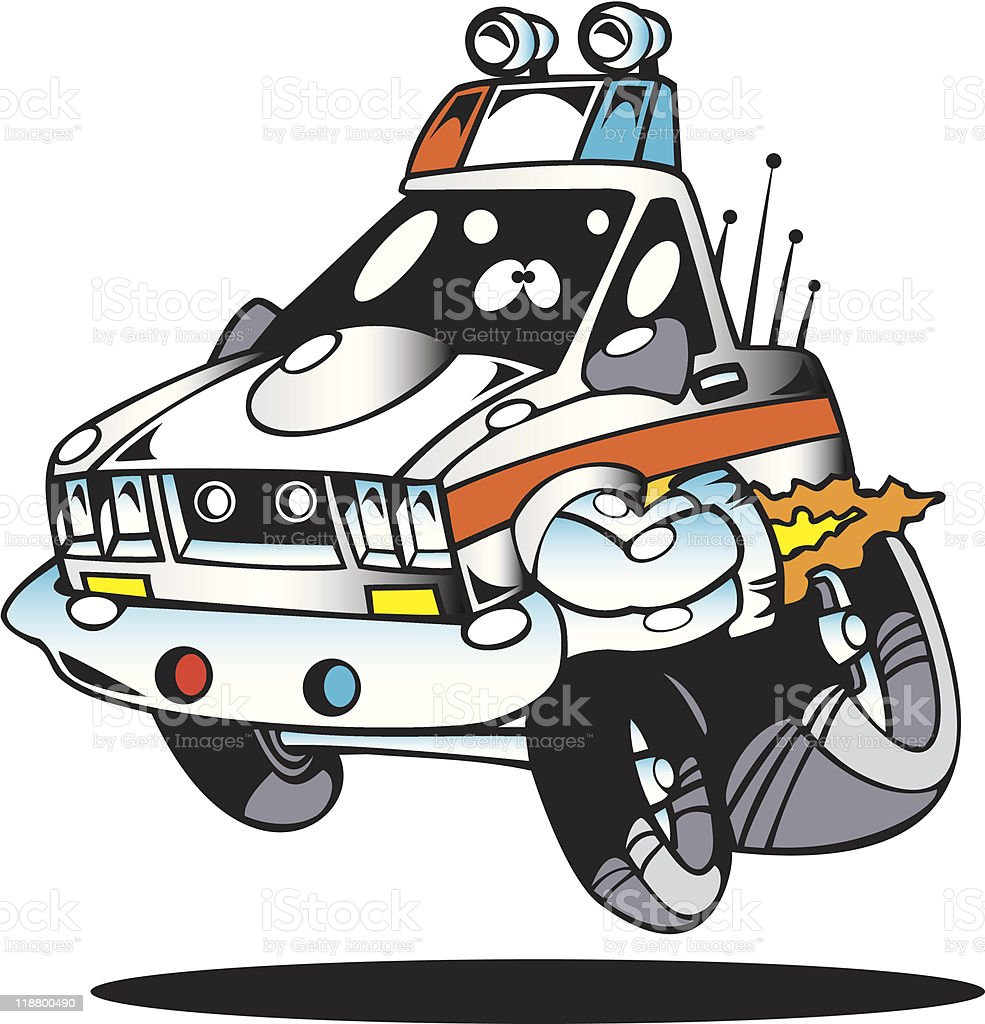 Cartoon Police Car Stock Vector Art & More Images Of Car