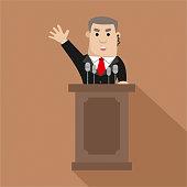 Cartoon politician