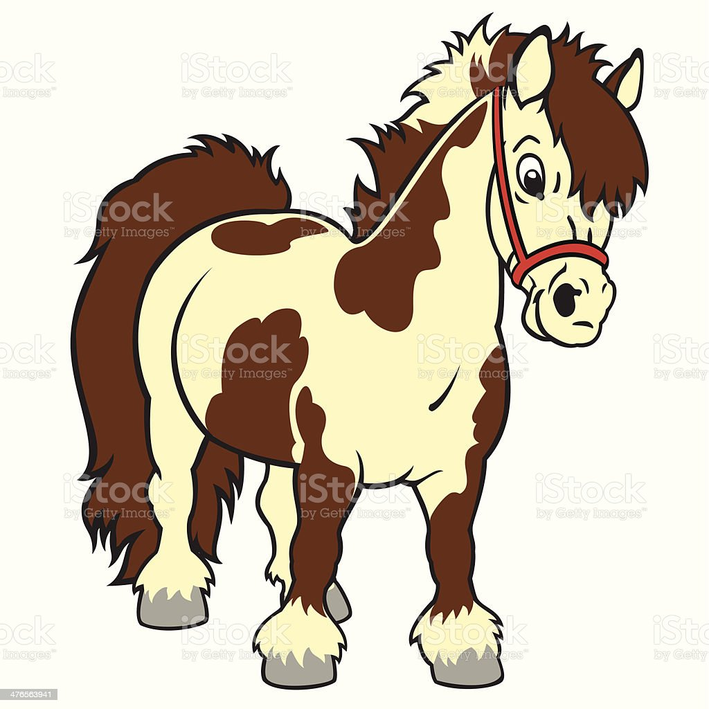 royalty free shetland pony clip art vector images illustrations rh istockphoto com pony clipart pony clipart free
