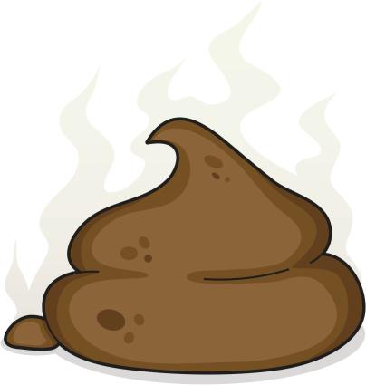 cartoon poo / pile of shit - poop