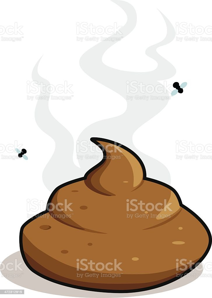 Cartoon poo vector art illustration