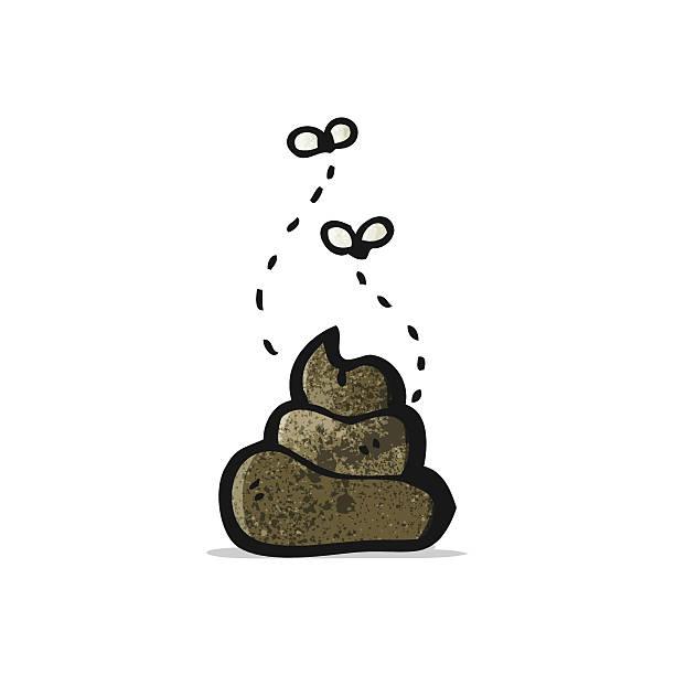 cartoon poop vector art illustration