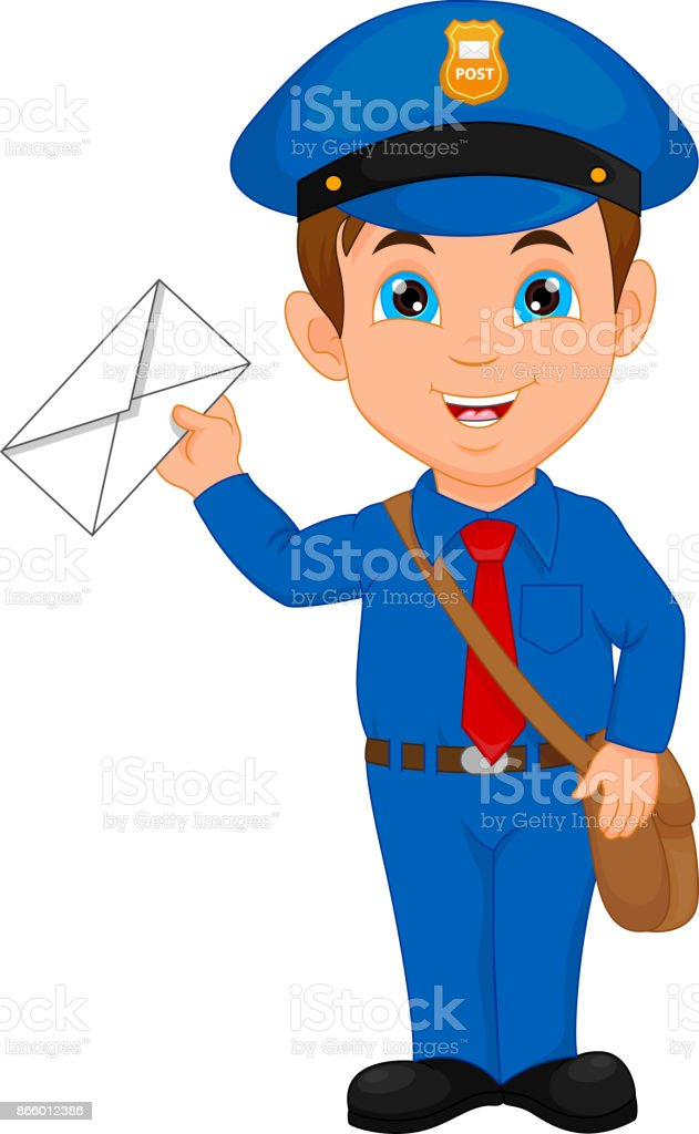 royalty free mailman clip art vector images illustrations istock rh istockphoto com animated mailman clipart mailman hat clipart