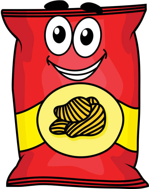 Bag Of Potato Chips Clip Art, Vector Images ...