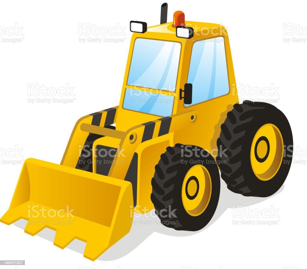 cartoon power shovel stock vector art 455421557 istock