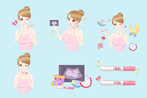 ilustraciones, imágenes clip art, dibujos animados e iconos de stock de mujer embarazada de historieta - planificación familiar