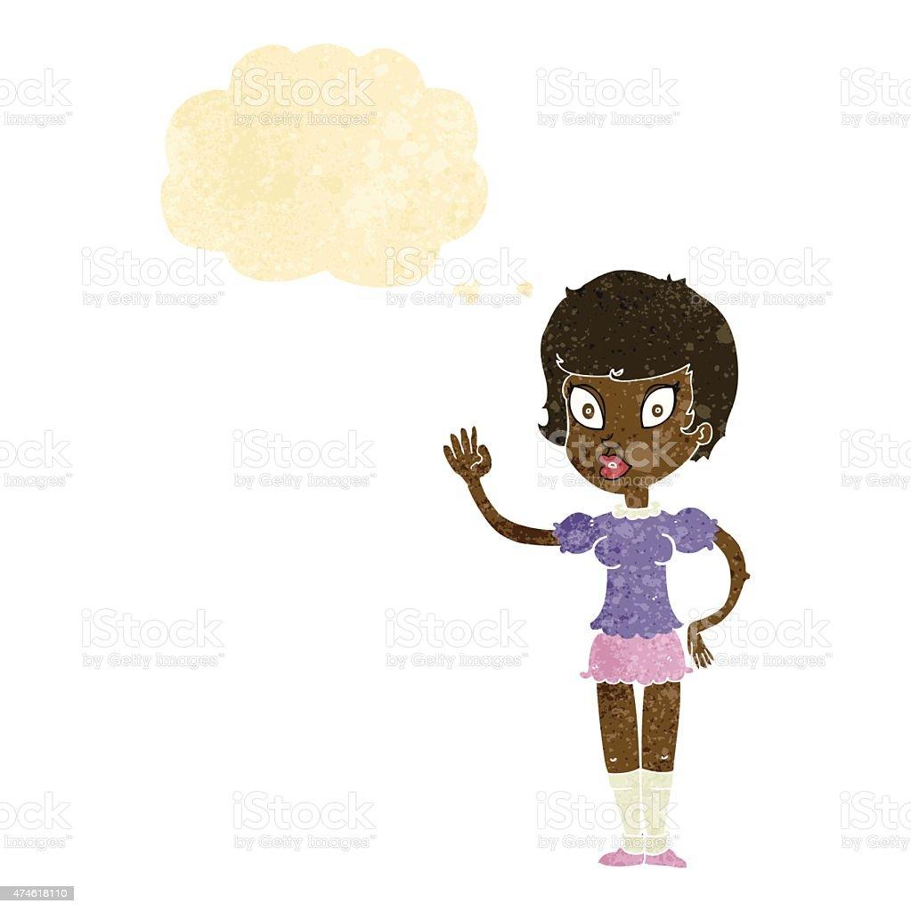 Открытка, анимация картинка девочка машет рукой