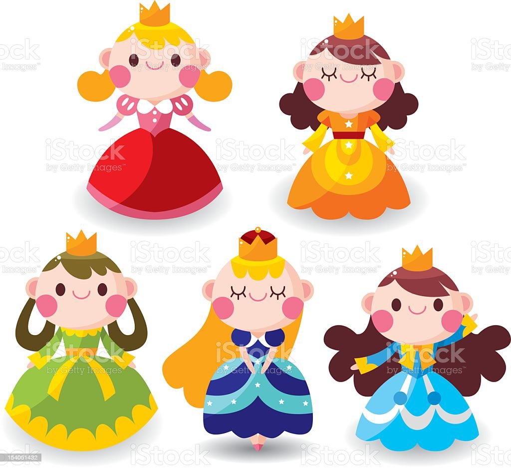 cartoon Princess vector art illustration