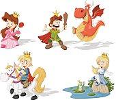 Cartoon princesses and princes