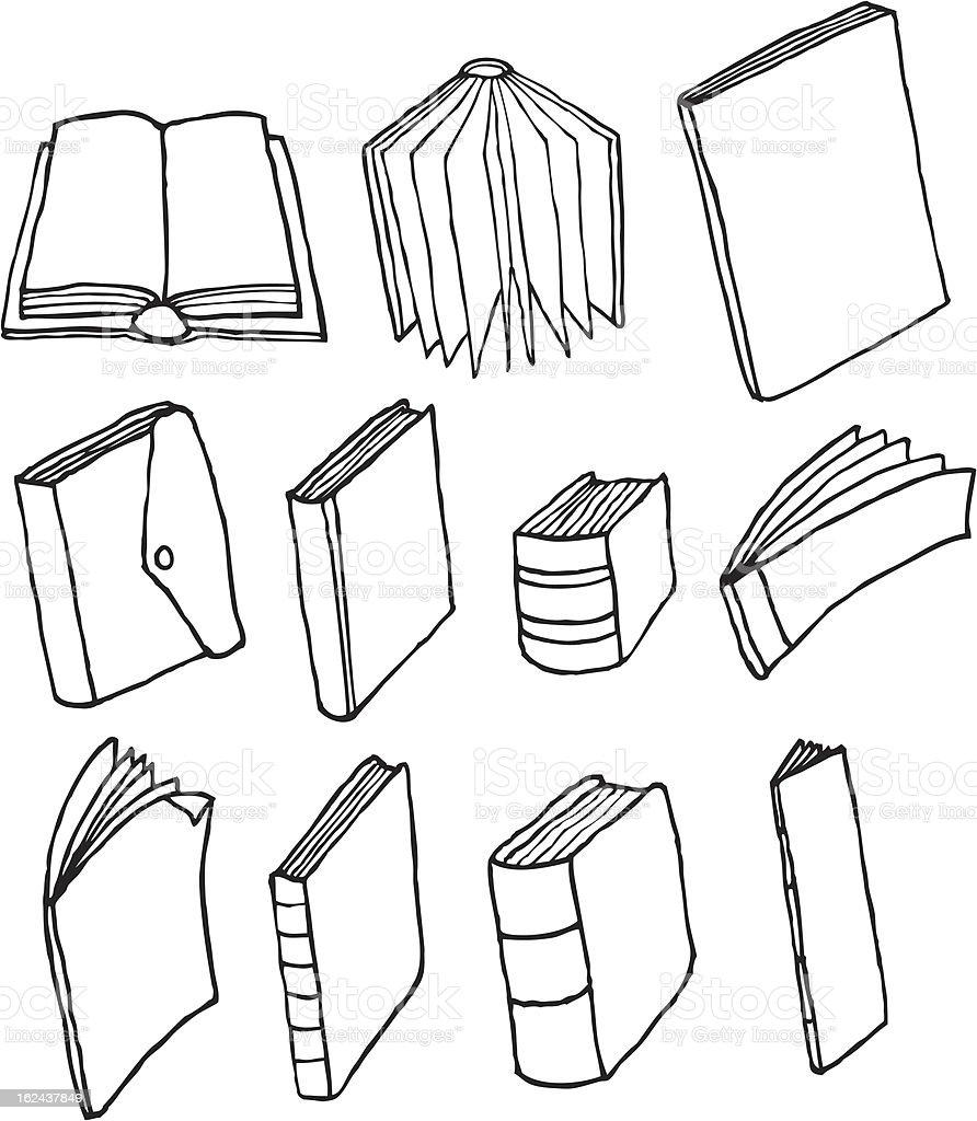 Cartoon printed media / Editorial set vector art illustration
