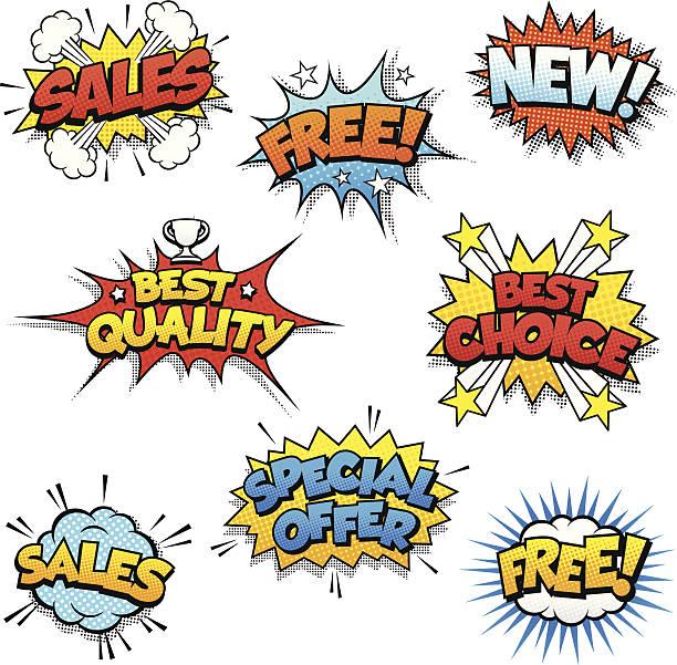 illustrations, cliparts, dessins animés et icônes de dessin animé de motifs promotionnel - gratuit