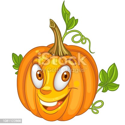 istock Cartoon pumpkin vegetable 1081122866