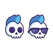 Cartoon punk skull