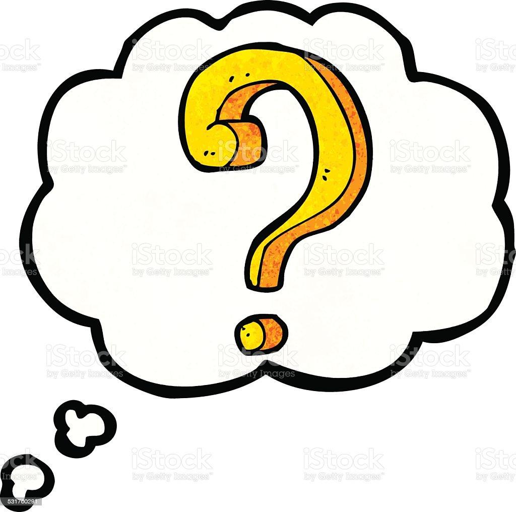 comic fragezeichen mit gedankenblase stock vektor art und question mark clip art free question mark clip art for free