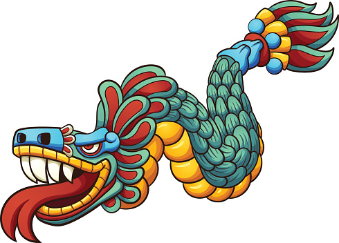 Cartoon Quetzalcoatl