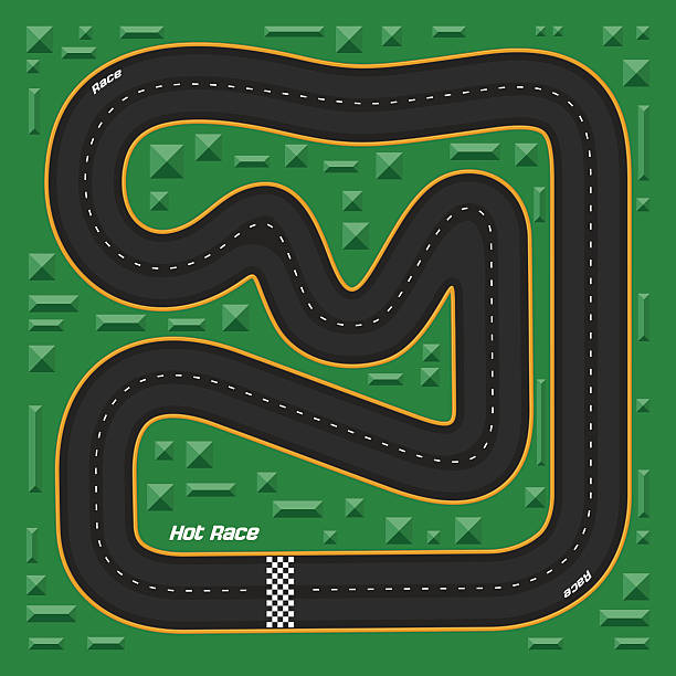 Royalty Free Motor Racing Track Clip Art, Vector Images ...