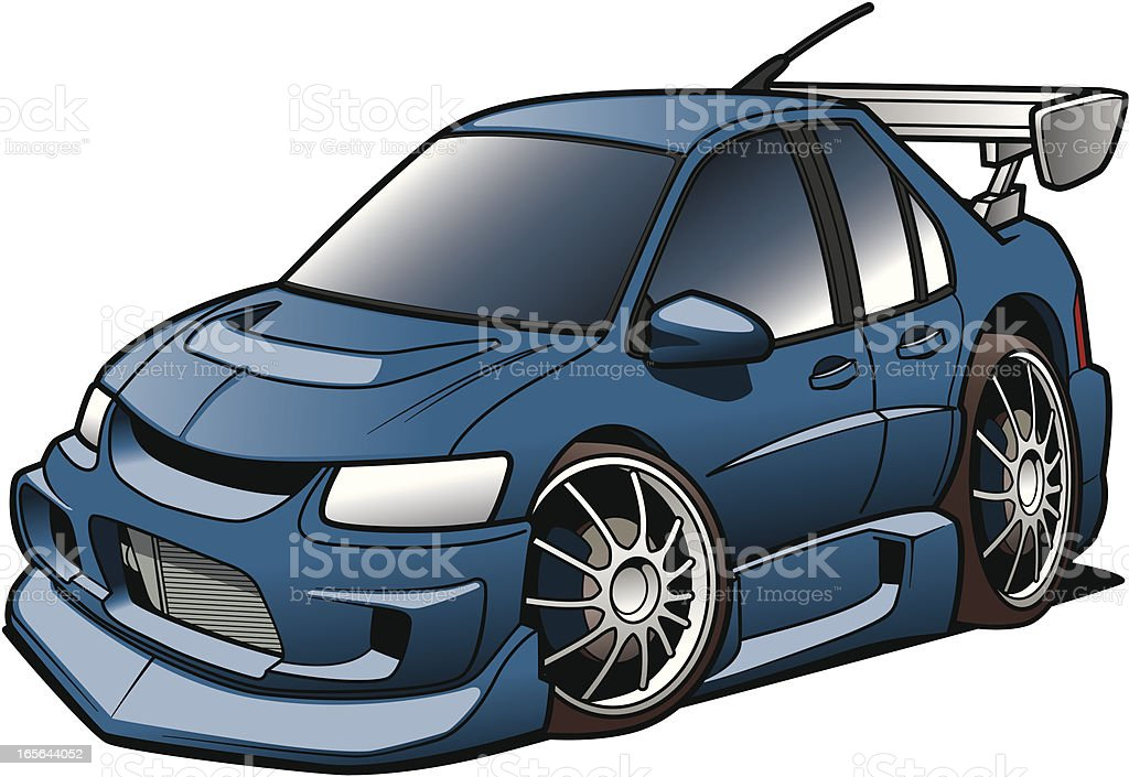 Cartoon Rally Racer royalty-free cartoon rally racer stock vector art & more images of car
