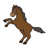 Cartoon Rearing Horse