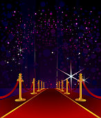Self illustrated beautiful Red Carpet with elegant background.Each element in a separate layers.Very easy to edit vector file.
