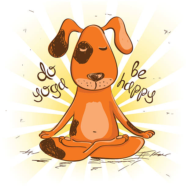 Dog Yoga Illustrations, Royalty-Free Vector Graphics ...