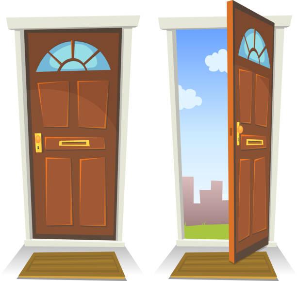 Open And Closed Doors : Royalty free closing door clip art vector images