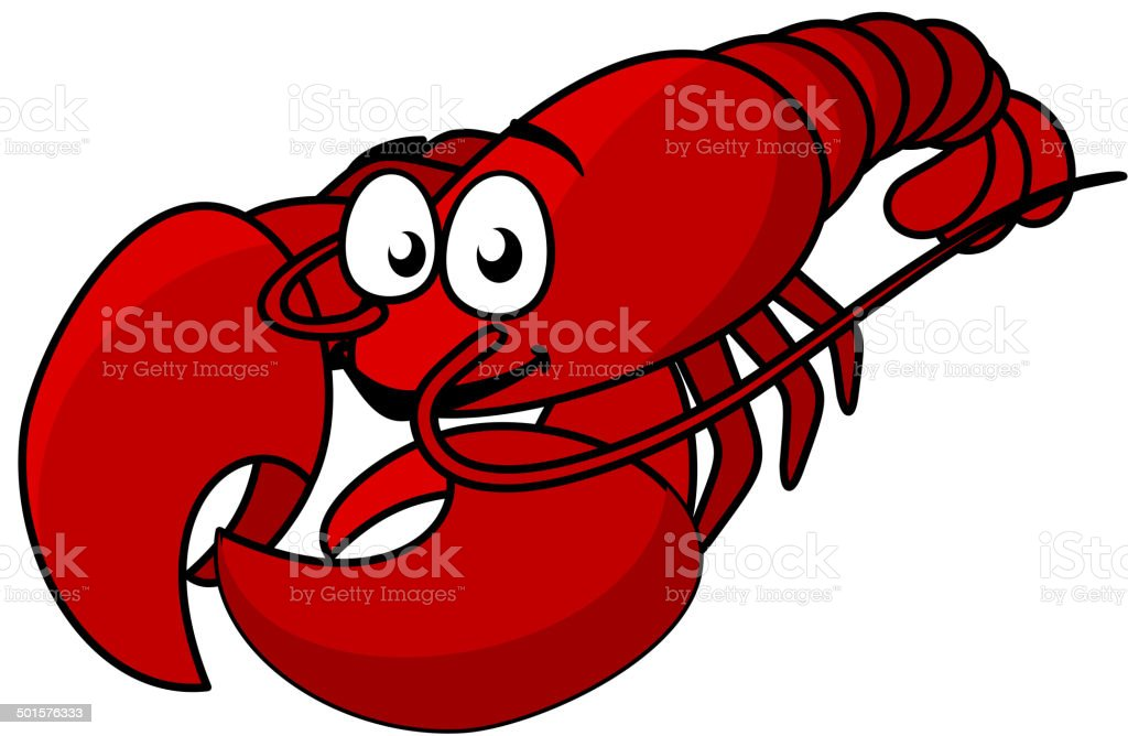 Cartoon red lobster royalty-free stock vector art