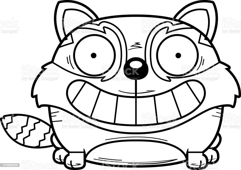 Dessin Animé Souriant Petit Panda Vecteurs Libres De Droits