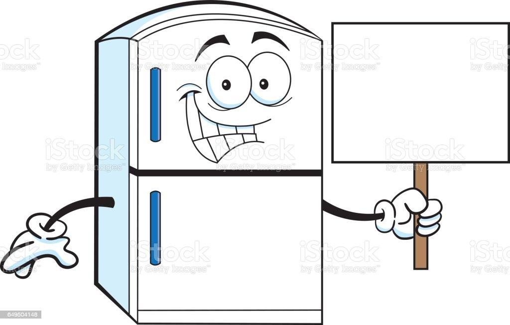 royalty free funny fridge clip art vector images illustrations rh istockphoto com refrigerator clip art images fridge clipart black and white