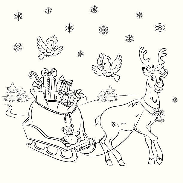Royalty Free Rudolph The Red Nosed Reindeer Santa Claus Christmas ...