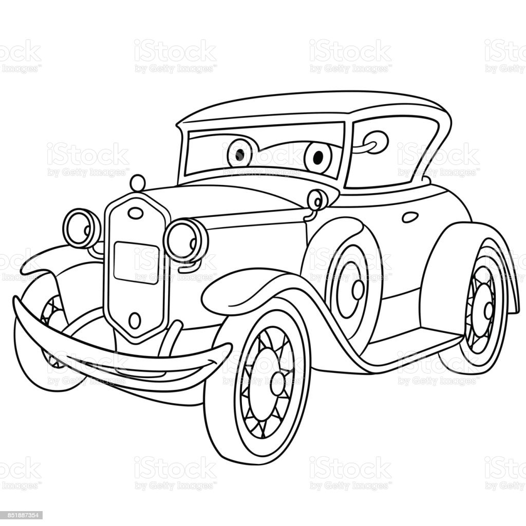 Cartoon Retro Old Car Royalty Free Cartoon Retro Old Car Stock Vector Art  U0026amp;