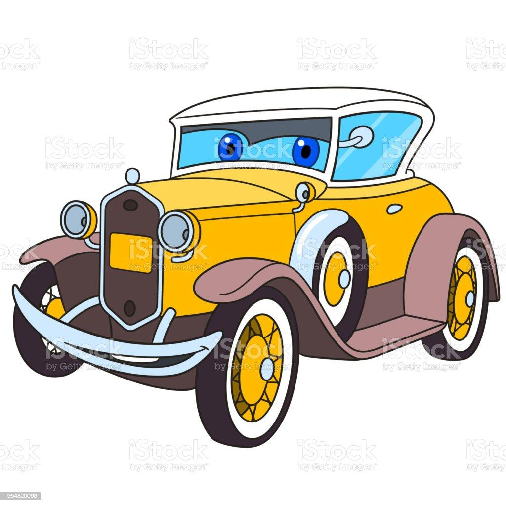 Retro vieille voiture de dessin anim vecteurs libres de droits et plus d 39 images de 1910 1919 - Dessin vieille voiture ...