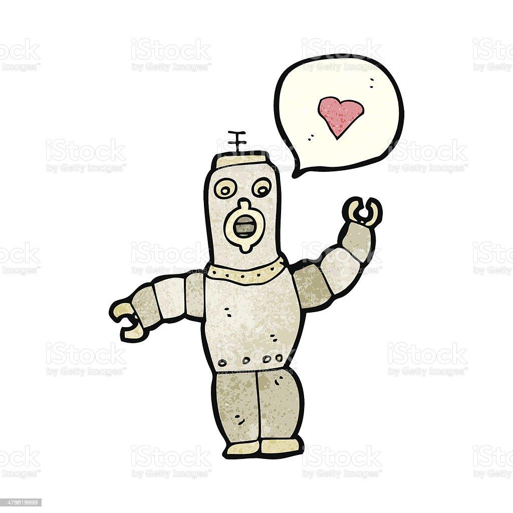 カットイラストロボット愛レトロ いたずら書きのベクターアート素材や