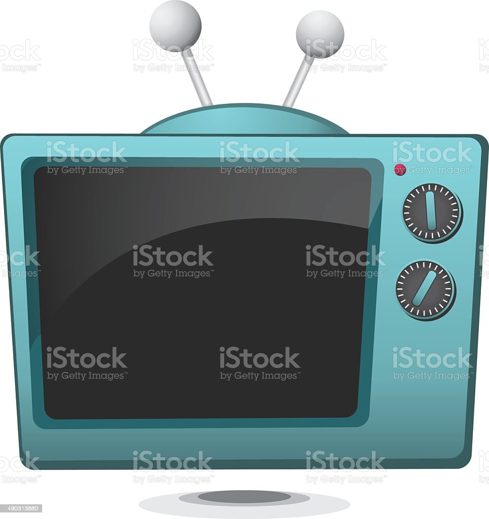Cartoon Retro Television vector art illustration