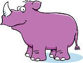 Cartoon rhino.