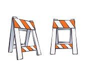 Cartoon Road Barriers
