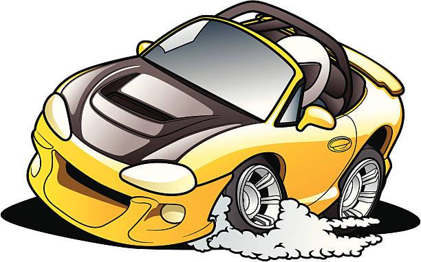 Cartoon Road Racer vector art illustration