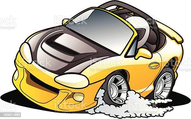 Cartoon Road Racer Stock Illustration - Download Image Now