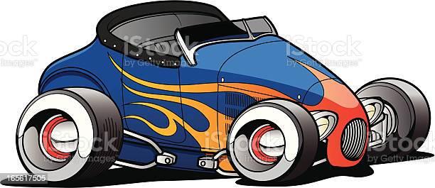 Cartoon Roadster Stock Illustration - Download Image Now