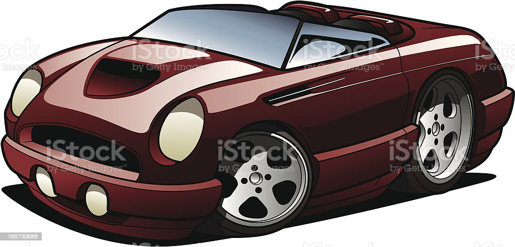 Cartoon Roadster royalty-free cartoon roadster stock illustration - download image now