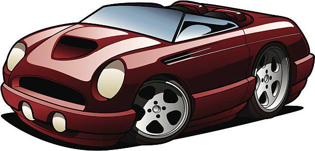 Cartoon Roadster vector art illustration